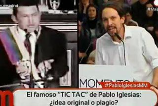 El 'tic, tac' de Pablo Iglesias, una burda copia de Hugo Chávez