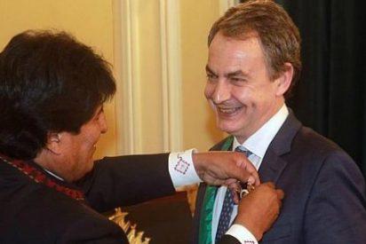 """Zapatero sigue dando la nota: llega a Bolivia para """"recuperar el abrazo"""" con Morales"""