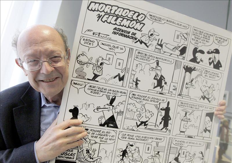 El creador de Mortadelo y Filemón protagonista de la antigua biblioteca de Chamartín