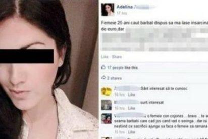 """Esta joven ofrece 457 euros a quien la deje embarazada: """"Tendrás diversión y yo un bebé"""""""