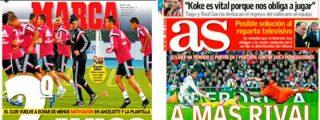 """Marca advierte a Ancelotti: """"En los despachos del Bernabéu creen que le sobra mano izquierda y le falta mano dura"""""""