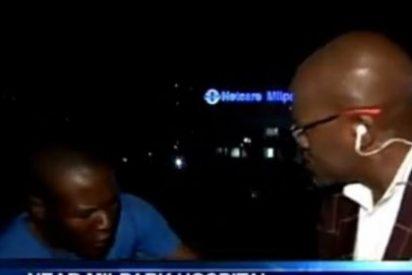 [Vídeo] Unos atracadores roban a un reportero segundos antes de entrar en directo