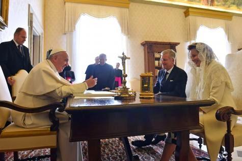 El Papa recibe a los reyes de Bélgica