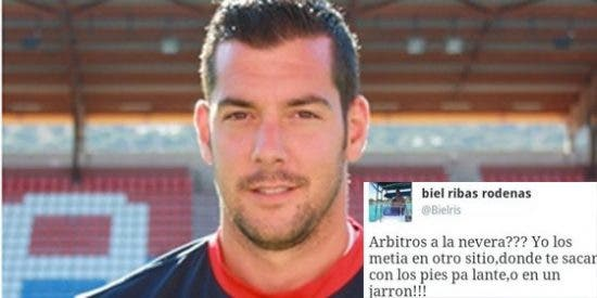 El community manager y el portero del Numancia incendian Twitter con insultos a los árbitros