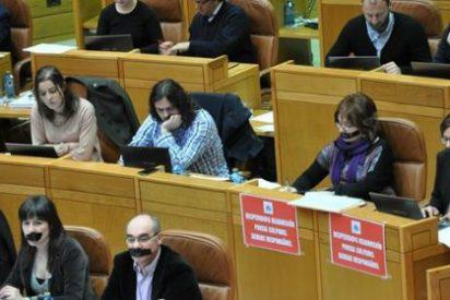 Los diputados del BNG se amordazan por un cambio en el reglamento parlamentario