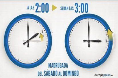 Recuerda: esta madrugada a las 2 serán las 3
