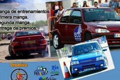 David Quijada y Daniel Canelo con la Asociación Oncológica Extremeña en el I Rallye Circuito de Navarra