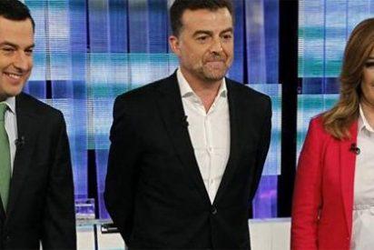 Los tres candidatos andaluces, satisfechos tras el debate