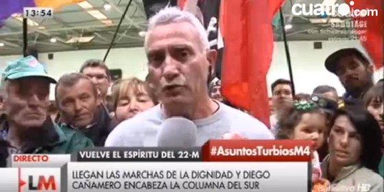 """El asalta fincas Cañamero se las da ahora de pacifista con Cintora riéndole la gracia: """"Nosotros somos como Gandhi"""""""