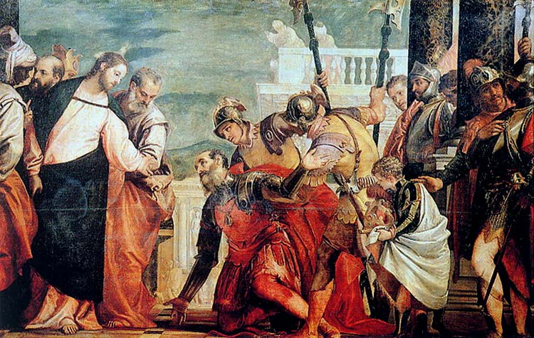 El milagro de Jesús a la pareja del centurión gay