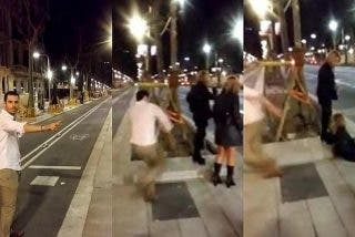 Trincan al facineroso que se grabó dando una patada a una chica y lo subió a Youtube