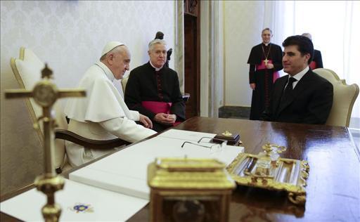 El Papa se reúne con el primer ministro del Kurdistán en Irak