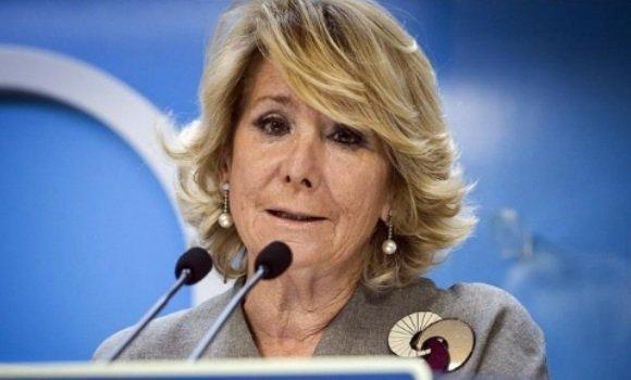 """Esperanza Aguirre: """"Conmigo no habrá ningún impuesto que suba y en lo posible bajarán todos"""""""