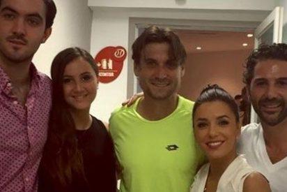 Eva Longoria celebra orgullosa la victoria de David Ferrer en el torneo de tenis de Acapulco
