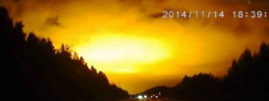 El vídeo de la luz extraterrestre que iluminó el cielo de Rusia deja perplejo