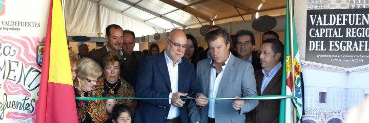 Echávarri destaca el crecimiento de la Feria Agroalimentaria de Valdefuentes (Cáceres)