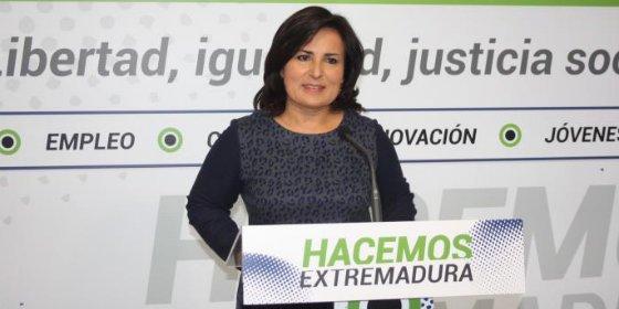 """Francisca Rosa (PP): """"Monago ha posibilitado situar la deuda de Extremadura cuatro puntos por debajo de la media"""""""