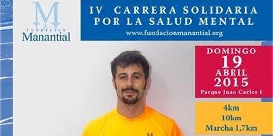Hugo Silva su cara más solidaria en la Carrera por la Salud Mental