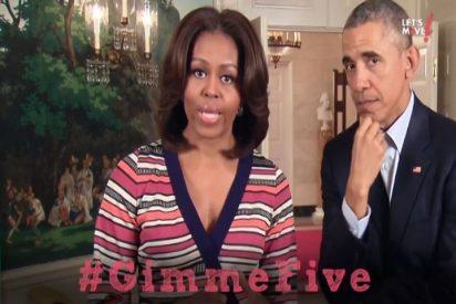 La esposa de Barack Obama arrasa en Internet con su #GimmeFive
