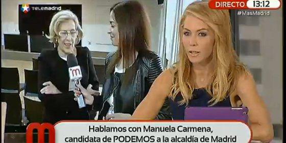 """Montse Suárez pone en el más absoluto de los ridículos a la podemita Manuela Carmena: """"Menos mal que esta señora colgó la toga"""""""