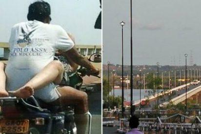 A la pareja que practica sexo sobre una moto en plena autopista le va la marcha