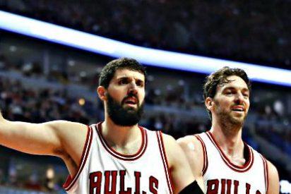 Niko Mirotic (24) y Pau Gasol (19-12) abusan de unos Knicks en horas bajas