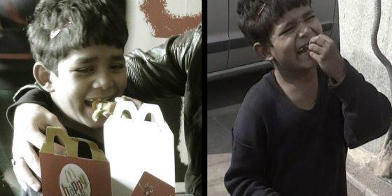 El conmovedor vídeo del niño pobre de 5 años al que invitan por primera vez a un McDonald's