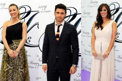 Noel, Nagore Robles y Anabel Pantoja en la inauguración de Ivory