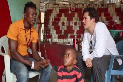 Orlando Bloom visita las comunidades afectadas por el ébola en Liberia