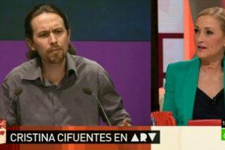 """Cristina Cifuentes: """"Pablo Iglesias me invitó a ver 'The Wire' en el sofá de su casa, pero igual a Tania no le habría gustado"""""""