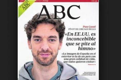 """El Periódico tacha de """"derecha ultramontana"""" a ABC por su portada con Pau Gasol"""