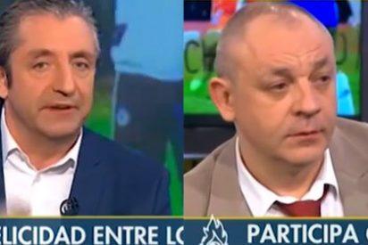 """Pedrerol pone la cara colorada a Hermel: """"Te pongo videos tuyos del primer año de Mourinho y del tercero y el chaquetero eres tú"""""""