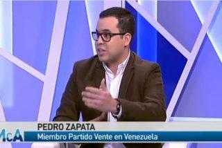 """Pedro Zapata, opositor venezolano: """"Monedero no dimite porque es el financiero del partido, es el Bárcenas de Podemos"""""""