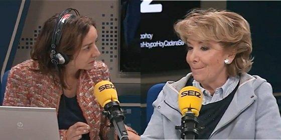 """Esperanza Aguirre le pone los puntos sobre las íes a la inquisidora de Pepa Bueno: """"Perdone, contestaré lo que yo quiera"""""""