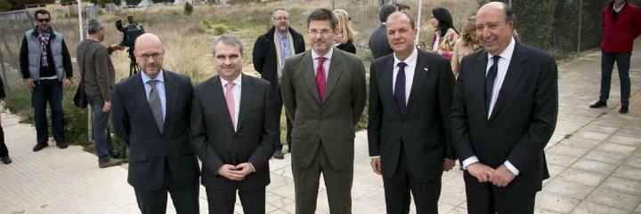 Monago y el ministro de Justicia presentan el proyecto de Ciudad de la Justicia de Badajoz