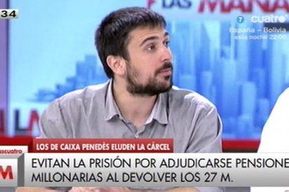 El podemita Ramón Espinar reniega de su acomodado padre animado por el amigo Cintora