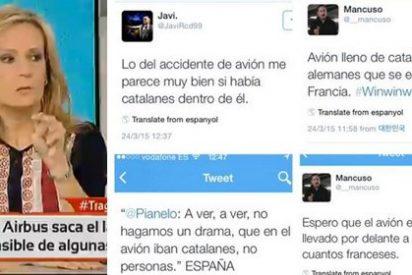 """Isabel San Sebastián sobre los tuiteros que se burlaron del accidente aéreo: """"Son gentuza y una peste moral"""""""