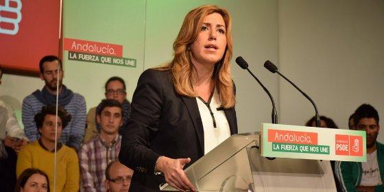 """Susana Díaz: """"Tengo ganas, ilusión y apoyo para unir a los andaluces y lograr el Gobierno fuerte que necesita esta tierra"""""""
