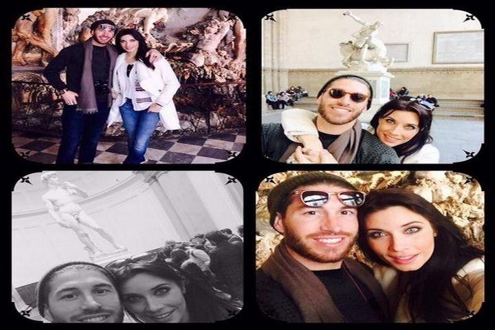 Sergio Ramos y Pilar Rubio, trotamundos en Florencia