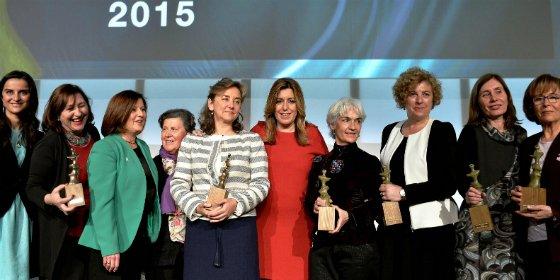 La presidenta de la Junta de Andalucia entrega los Premios Meridiana 2015