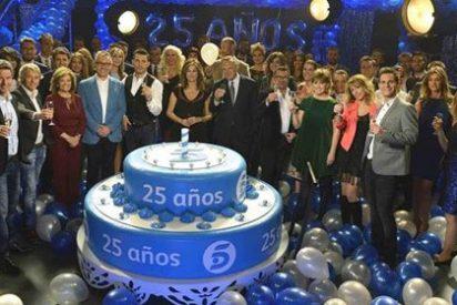 Los presentadores de Telecinco soplan las velas por su veinticinco cumpleaños