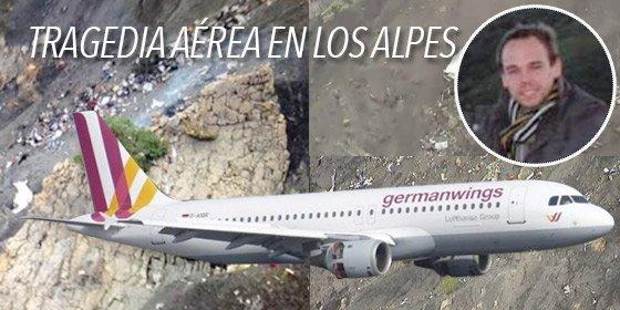 """El vídeo que grabó un pasajero en la infernal caída del avión de Germanwings: """"¡Dios mío!"""""""