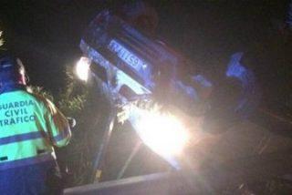 9 heridos en un accidente de tráfico en la autovía A5, a la altura de Montijo (Badajoz)