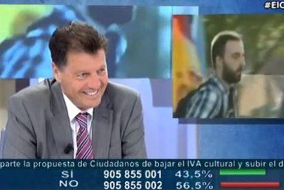 """Alfonso Rojo: """"Al tipo que intentó reventar el mitin de Esperanza Aguirre le falta un hervor o dos cursos"""""""