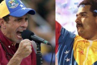 La policía chavista usa la foto de Henrique Capriles ¡como diana para practicar tiro!