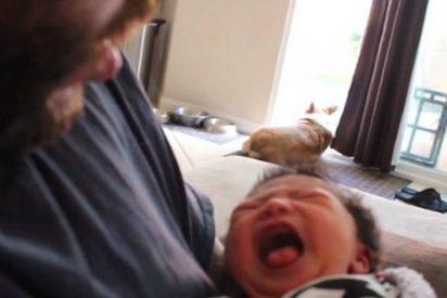 El infalible método de Darth Vader para dormir bebés que te dejará resoplando