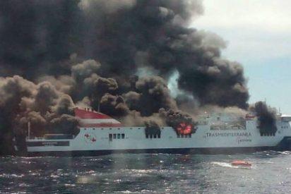 """Sanos y salvos tras el incendio del ferry 'Sorrento': """"Creíamos que no salíamos"""""""