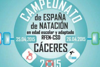 El Campeonato de España de Natación en Edad Escolar, en Cáceres