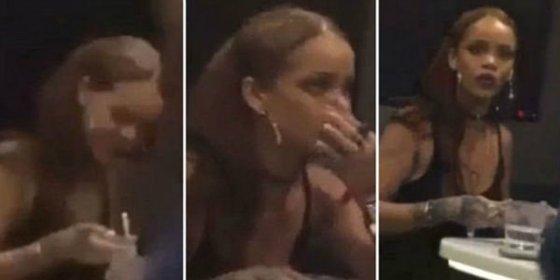 [Vídeo] ¿Está esnifando cocaína Rihanna o liándose un porro?
