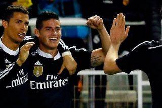 El Madrid reacciona y consigue sacar los tres puntos de Vallecas con goles de CR7 y James